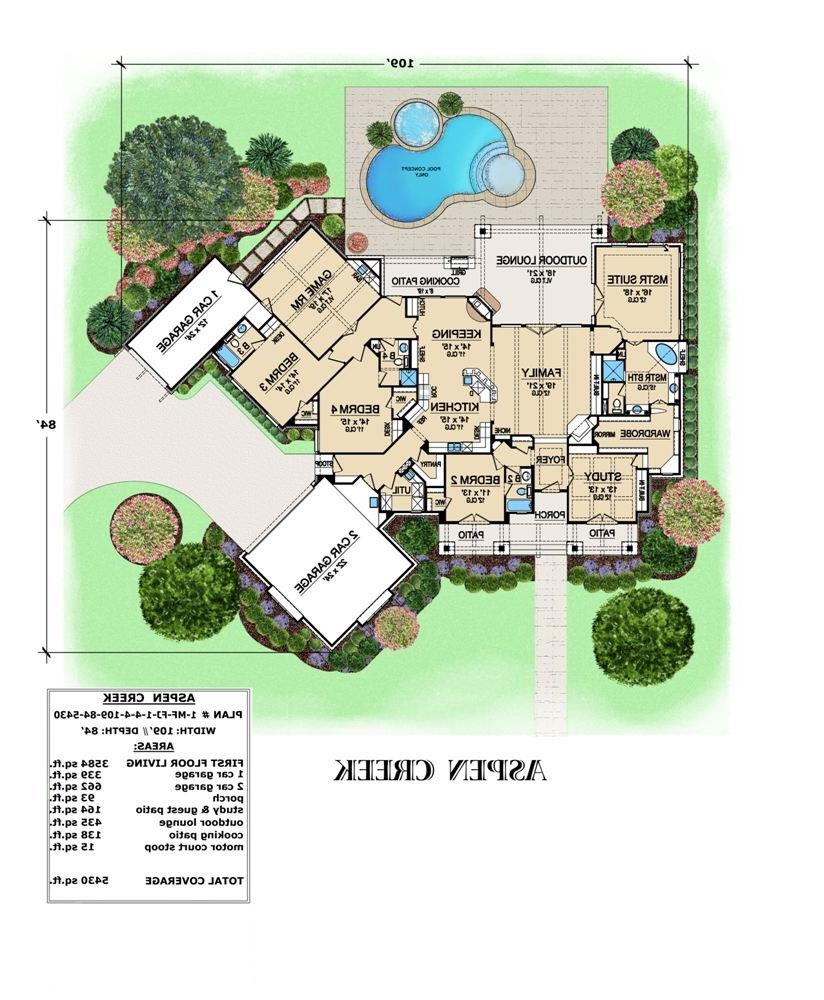 First Floor image of Featured House Plan: BHG - 4846