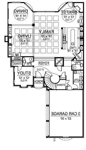 First Floor image of Featured House Plan: BHG - 4833