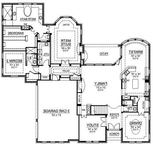 First Floor image of Featured House Plan: BHG - 4835