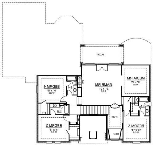 Second Floor image of Featured House Plan: BHG - 4835