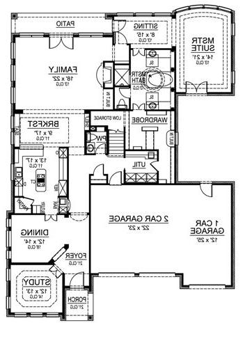 First Floor image of Featured House Plan: BHG - 4834