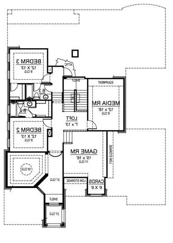 Second Floor image of Featured House Plan: BHG - 4834