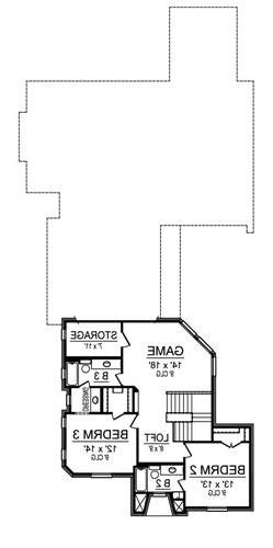 Second Floor image of Featured House Plan: BHG - 4837