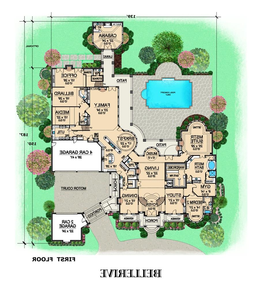 First Floor image of Featured House Plan: BHG - 4840