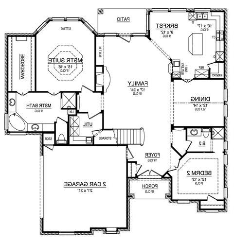 First Floor image of Featured House Plan: BHG - 4484