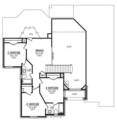 Second Floor image of Featured House Plan: BHG - 4484