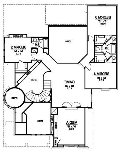 Second Floor image of Featured House Plan: BHG - 5210