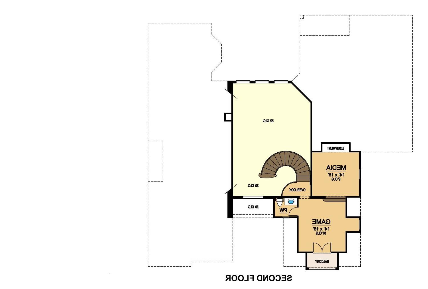 Second Floor image of Featured House Plan: BHG - 9073