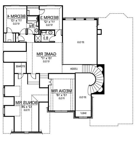Second Floor image of Featured House Plan: BHG - 4808