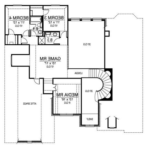 Second Floor image of Featured House Plan: BHG - 4537