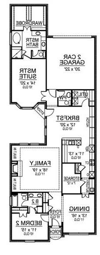 First Floor image of Featured House Plan: BHG - 4843