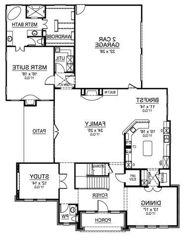 First Floor image of Featured House Plan: BHG - 4856