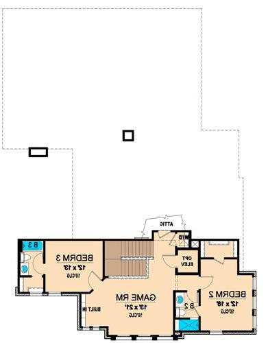 Second Floor 2 image of Featured House Plan: BHG - 4856