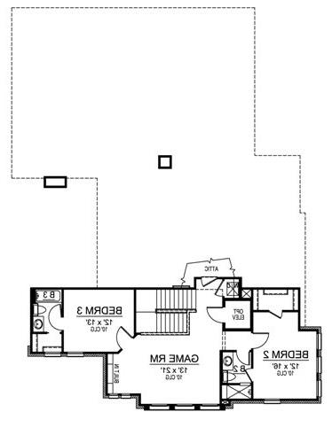 Second Floor image of Featured House Plan: BHG - 4856