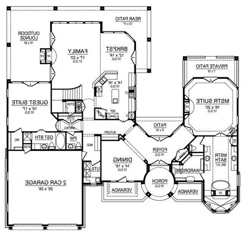 First Floor image of Featured House Plan: BHG - 4850