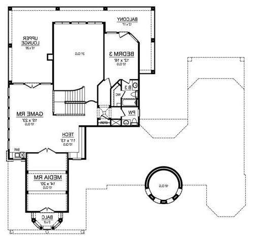 Second Floor image of Featured House Plan: BHG - 4850
