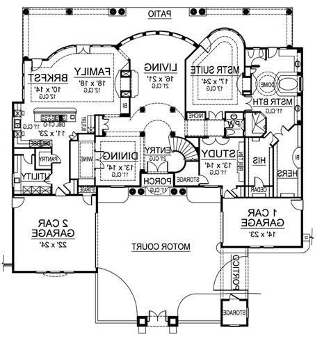 First Floor image of Featured House Plan: BHG - 4693