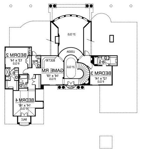 Second Floor image of Featured House Plan: BHG - 4693