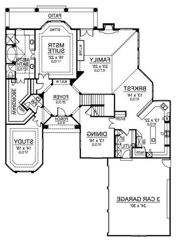 First Floor image of Featured House Plan: BHG - 4562