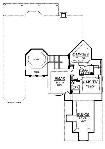 Second Floor image of Featured House Plan: BHG - 4562