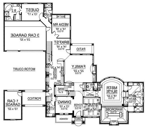 First Floor image of Featured House Plan: BHG - 4532