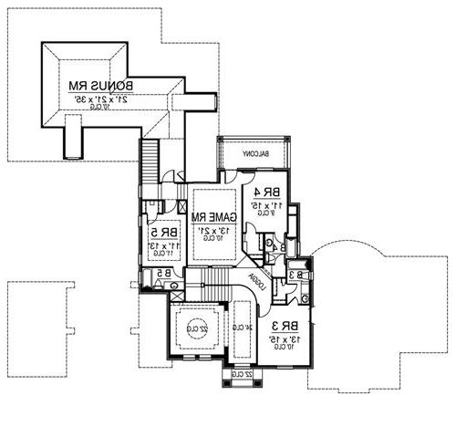 Second Floor image of Featured House Plan: BHG - 4532