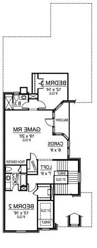 Second Floor image of Featured House Plan: BHG - 4862