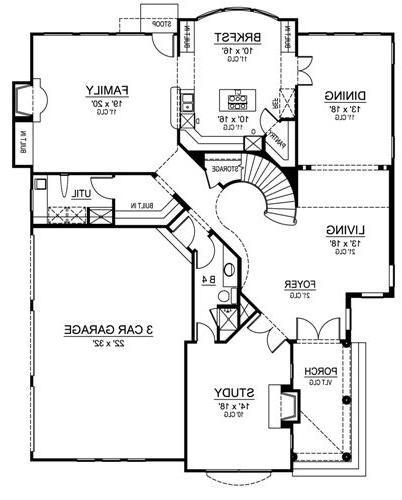 First Floor image of Featured House Plan: BHG - 4874