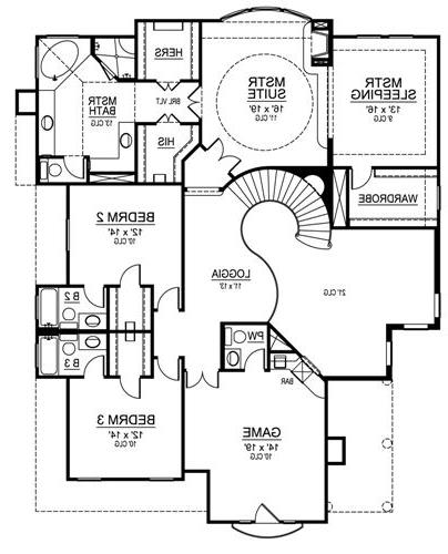 Second Floor image of Featured House Plan: BHG - 4874