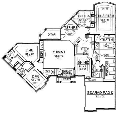 First Floor image of Featured House Plan: BHG - 4863
