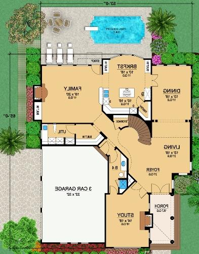 First Floor 2 image of Featured House Plan: BHG - 4874