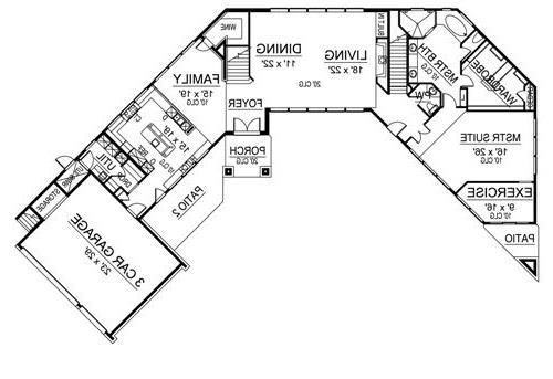First Floor image of Featured House Plan: BHG - 4864