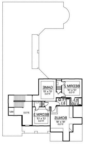 Second Floor image of Featured House Plan: BHG - 4865