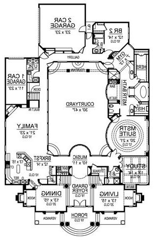 First Floor image of Featured House Plan: BHG - 4695