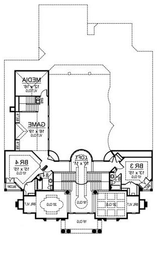 Second Floor image of Featured House Plan: BHG - 4695