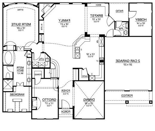 First Floor image of Featured House Plan: BHG - 4535
