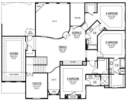 Second Floor image of Featured House Plan: BHG - 4535