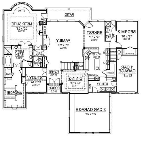 First Floor image of Featured House Plan: BHG - 4698