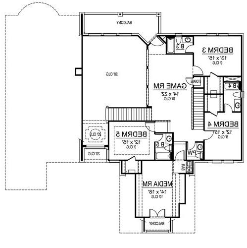 Second Floor image of Featured House Plan: BHG - 4698