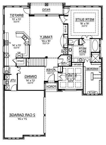 First Floor image of Featured House Plan: BHG - 4699