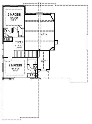 Second Floor image of Featured House Plan: BHG - 4699