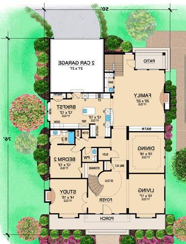 First Floor 2 image of Featured House Plan: BHG - 4702