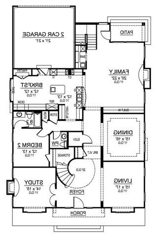 First Floor image of Featured House Plan: BHG - 4702