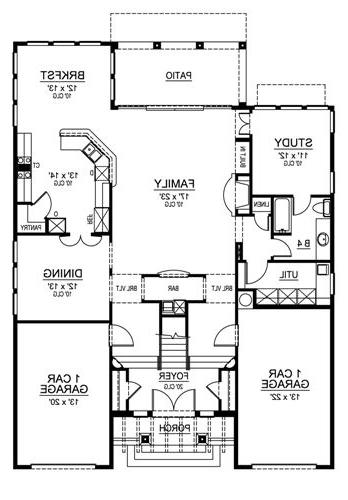 First Floor image of Featured House Plan: BHG - 4523