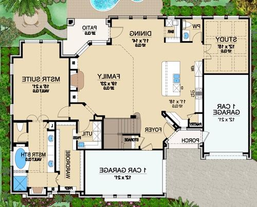 First Floor 2 image of Featured House Plan: BHG - 4869