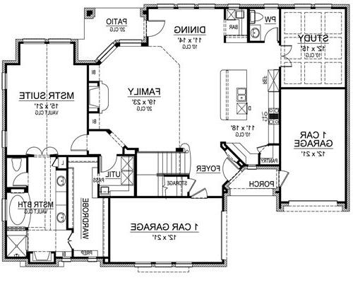 First Floor image of Featured House Plan: BHG - 4869