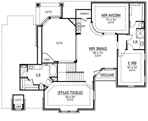 Second Floor image of Featured House Plan: BHG - 4869