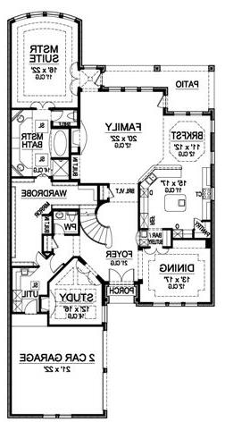 First Floor image of Featured House Plan: BHG - 4880