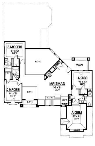 Second Floor image of Featured House Plan: BHG - 4881