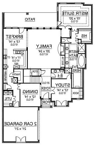 First Floor image of Featured House Plan: BHG - 4873